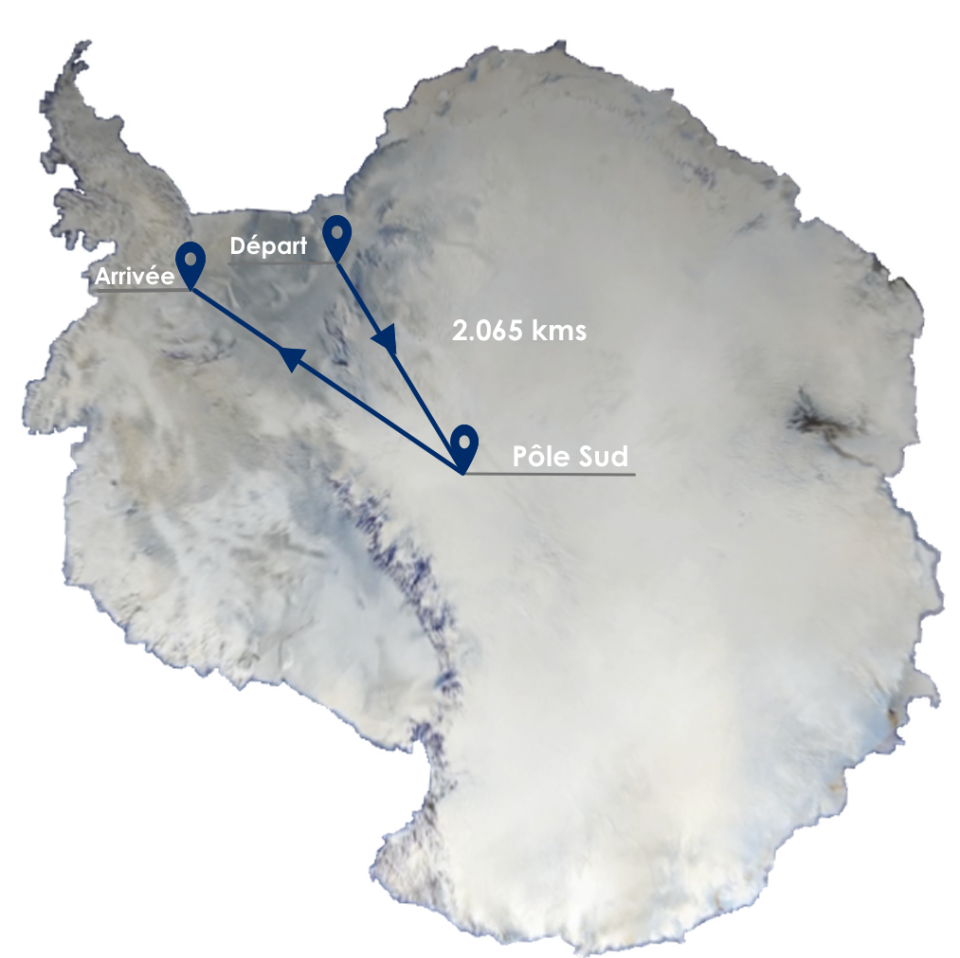 carte antarctique accross antarctica