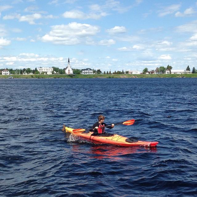 Québec, Saguenay, kayak de mer Lac Saint-Jean